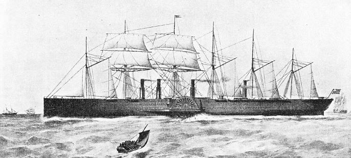 THE LARGEST SHIP OF HER TIME, the Great Eastern had a gross tonnage of 18,914