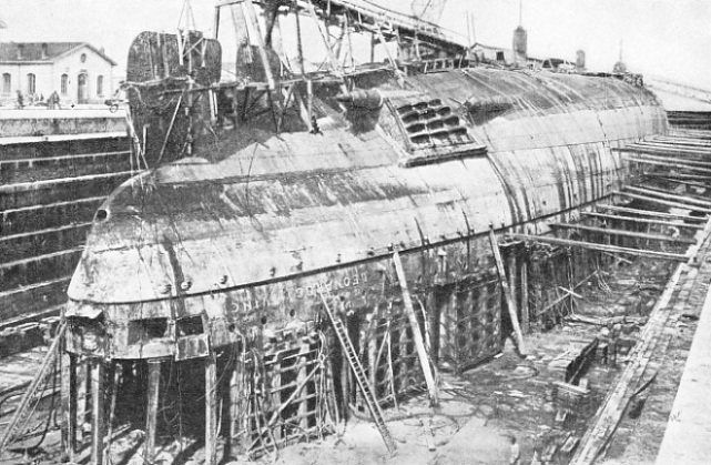 The Leonardo da Vinci resting in dry dock