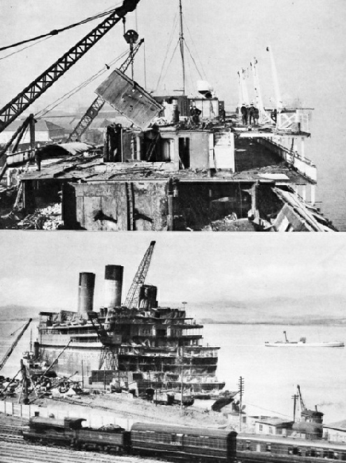 "The ""Doric"" and the ""Atlantique"" being scrapped"
