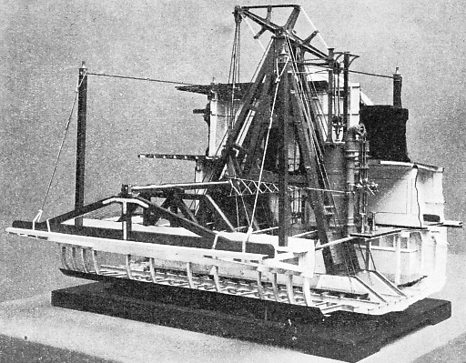 The machinery of a type of American paddle steamer built in 1884