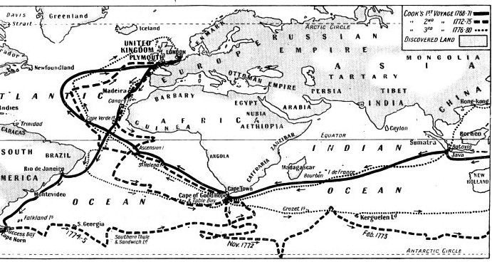 COOK'S THREE GREAT VOYAGES