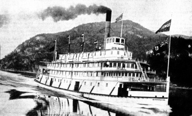 The Bonnington was built in 1911 for the Canadian Pacific