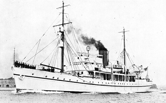 HMS CHALLENGER, was built at Chatham in 1931 originally as a fishery investigation vessel