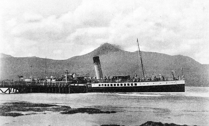 the paddle steamer Juno, 592 tons gross, at Brodick Pier