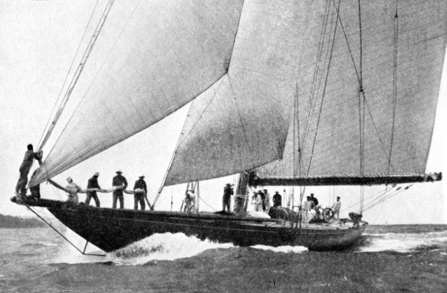 The yacht Shamrock V