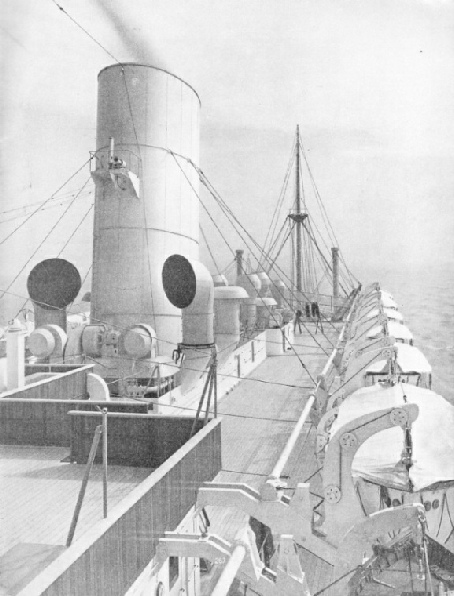 "top deck of RMS ""Strathmore"""