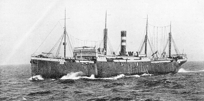 The Huntsman carried an Indian Lancer regiment on board in 1914