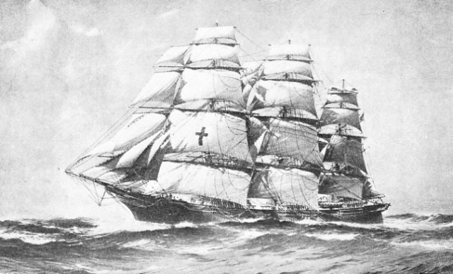 A fine study of the Dreadnought, one of the fastest of all sailing ships