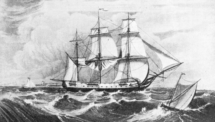 "The East Indiaman ""True Briton"""