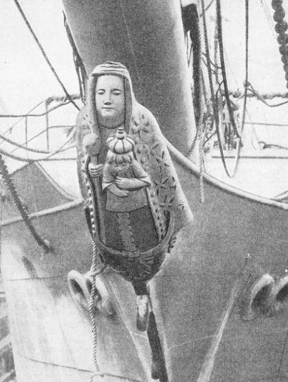 the figurehead of the Ama Begonakla, built on the Clyde in 1902
