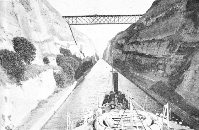 the Corinth Canal is crossed by only one bridge