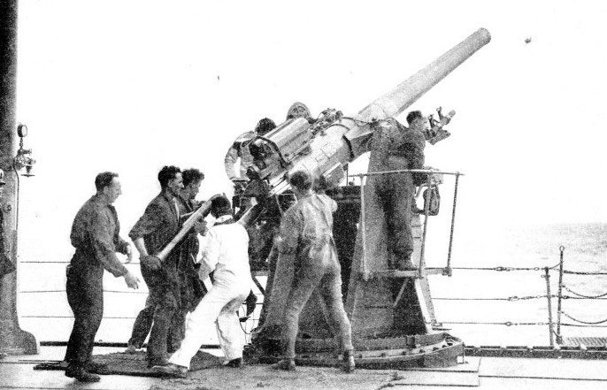 ANTI-AIRCRAFT PRACTICE being carried out with dummy shells