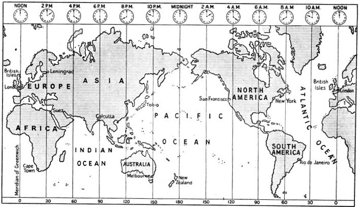 THE WORLD (80° N. to 60° S.) AS SHOWN ON MERCATOR'S PROJECTION