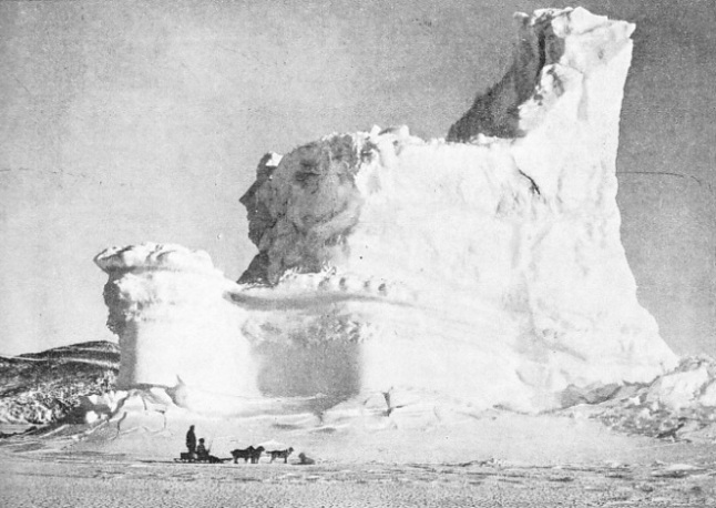 THE CASTLE BERG, a remarkable formation of snow and ice