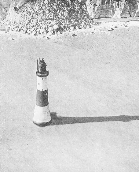 AERIAL VIEW of Beachy Head Lighthouse