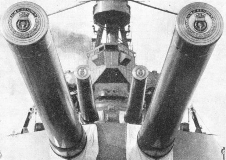 HUGE GUNS OF H.M.S. RENOWN