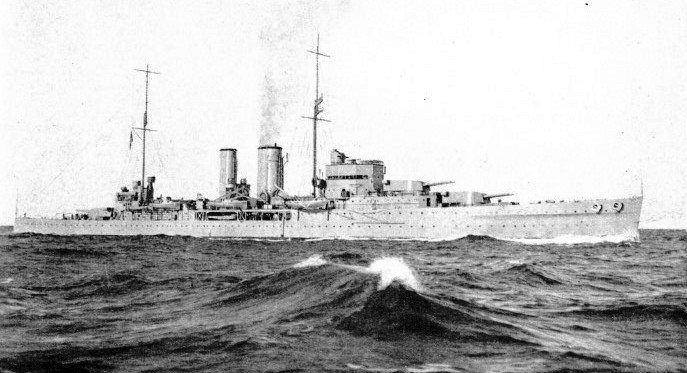 H.M.S. Exeter is one of the finest modern British cruisers