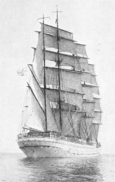 THE FLAGSHIP of Gustav Erikson, the Herzogin Cecilie