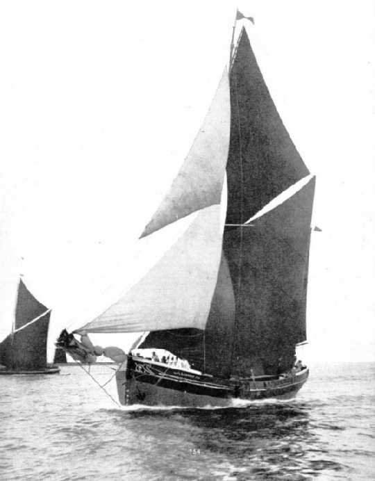 the thames sailing barge Cambria