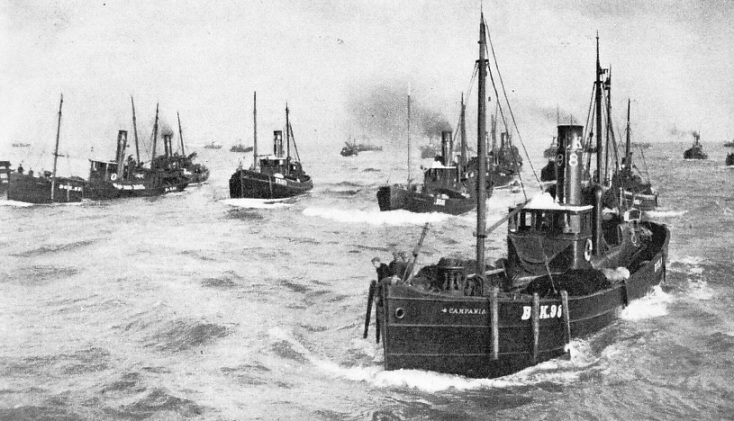 Drifters entering Yarmouth harbour