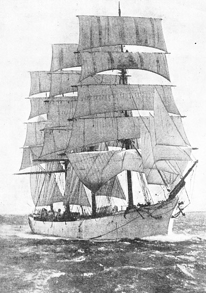 the British four-masted barque Pinmore was sailed into Rio for provisions by the Germans. When she rejoined the Seeadler she was sunk by a bomb