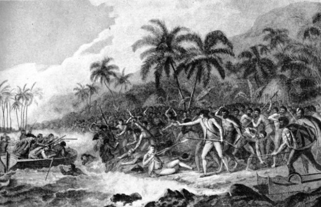 THE DEATH OF CAPTAIN COOK in the Sandwich Islands