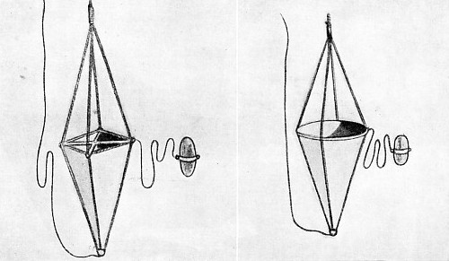 TWO TYPES OF SEA ANCHOR were used by Captain Voss