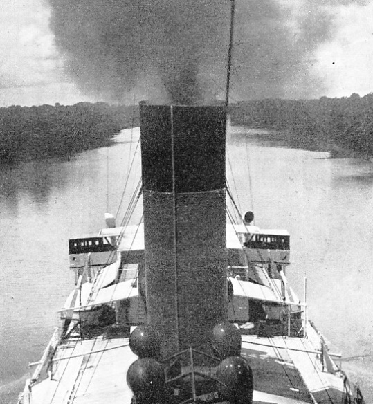 The Booth Line steamer Hilary on the River Amazon