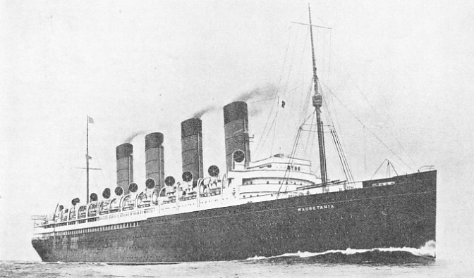 The Mauretania - holder of the Blue Riband for 20 years