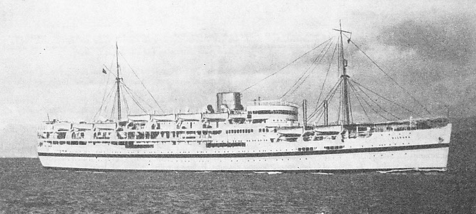 SPECIALLY BUILT IN 1935 the British India troopship Dilwara