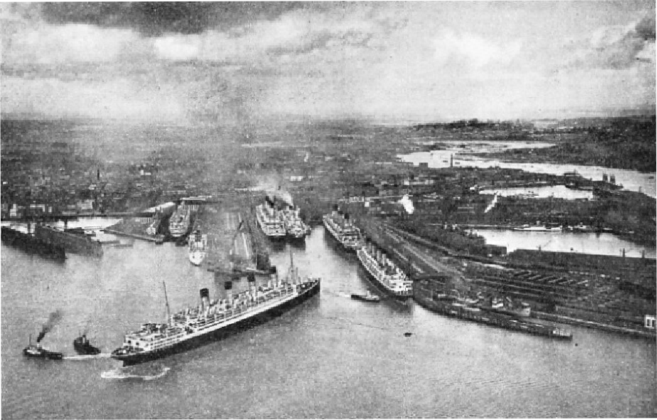 THE PREMIER PORT in the British Empire for the large liners is Southampton
