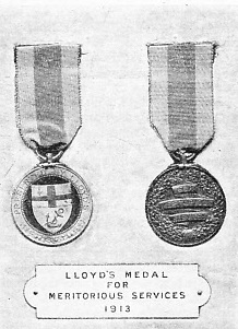 Lloyd's medal for meritorious service 1913