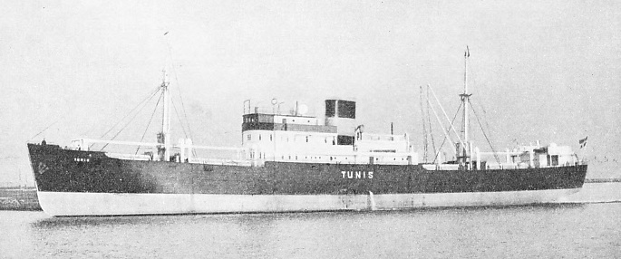 The fruit ship Tunis, 1,450 tons gross