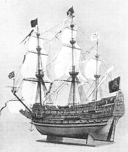 FULL-RIGGED MODEL of the Sovereign of the Seas, made by Henry B. Culver of New York