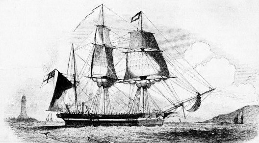 H.M.S. PLOVER, one of the many vessels sent in search of Sir John Franklin's expedition