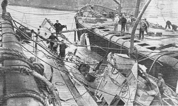 The mine-laden wreck of the UC 44
