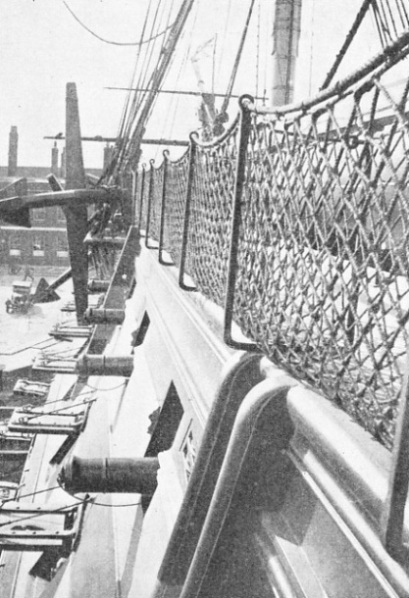 THE PORT HAMMOCK NETTINGS of HMS Victory