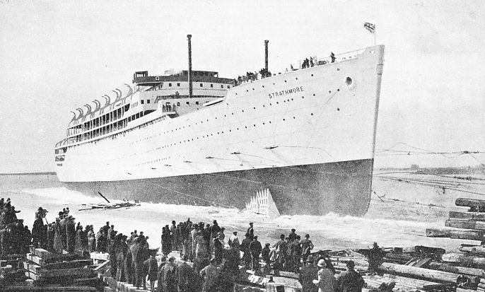 The launch of the Strathmore on April 4 1935