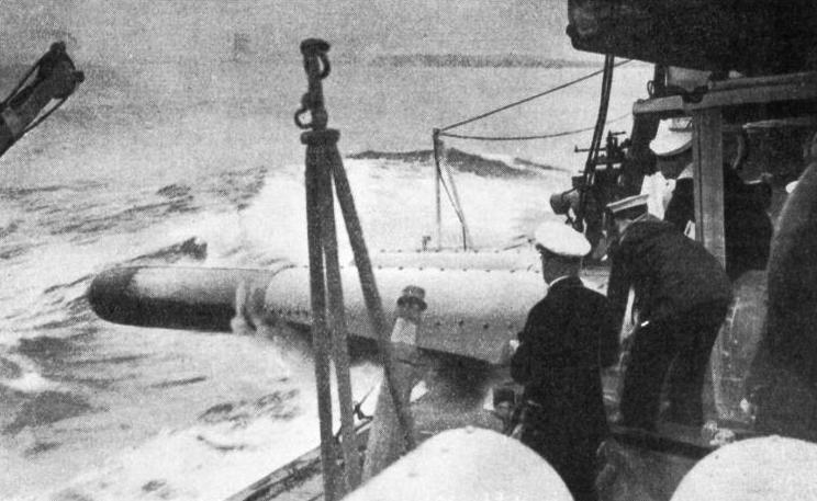 FIRING A TORPEDO from a destroyer