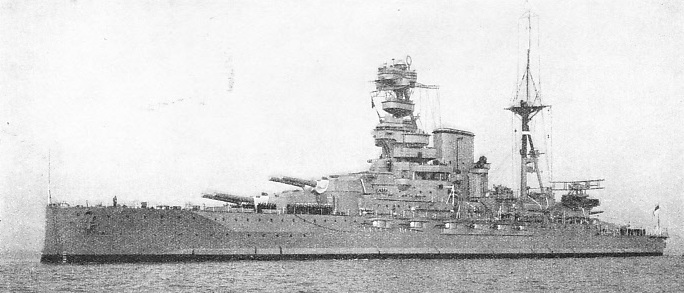 H.M.S. Barham is a battleship of the Queen Elizabeth class