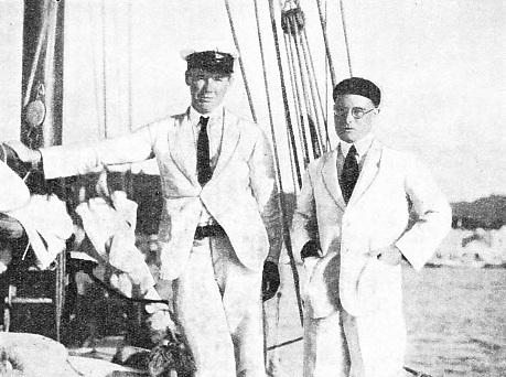 AT PORT CASTRIES, ST. LUCIA, B.W.I. The author (left) and John W. Johnstone