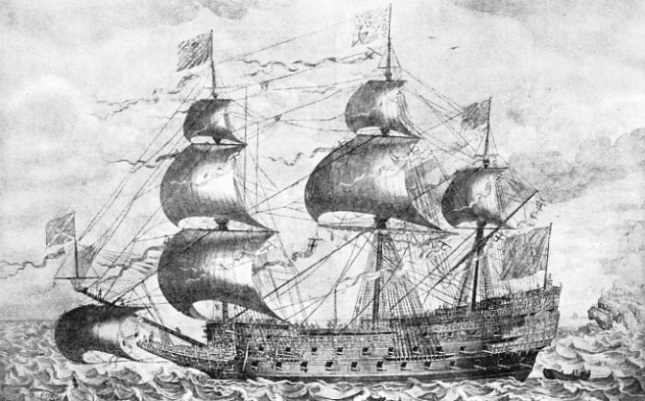 JOHN PAYNE'S FAMOUS CONTEMPORARY ENGRAVING of the Sovereign of the Seas shows that she was unique